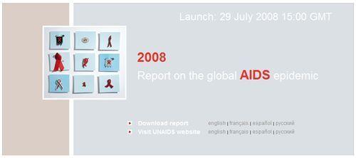 ONUSIDA:Rapport sur l'épidémie mondiale de sida 2008